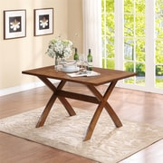 Dorel LivingTrestle Dining Table, Dark Pine