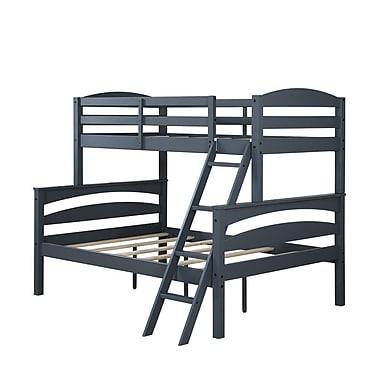 Dorel Living Brady Twin over Full Bunk Bed, Gray