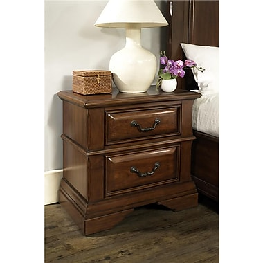Dorel Living McAllen Nightstand, Dark Cherry