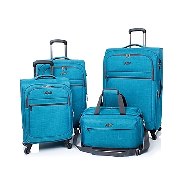 Rosetti Island Paradise 4-Piece Luggage Set, Blue (RS5004)