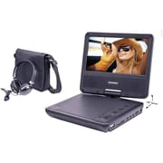 "Sylvania 7"" Portable DVD Player with Swivel Screen & Headphones (SDVD7060-BLACK)"