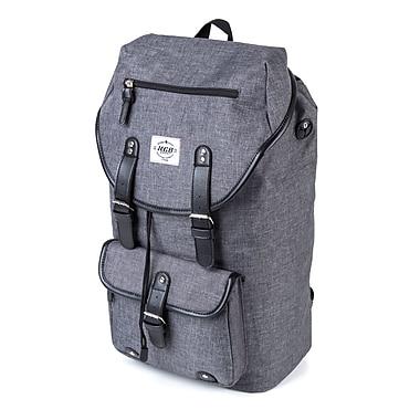 KGB Sport - Sac à dos à rabat pour portatif de 19 po, gris (BPK5749)