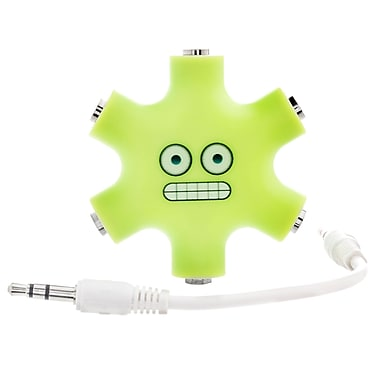 5 Way Headphone Splitters - Green