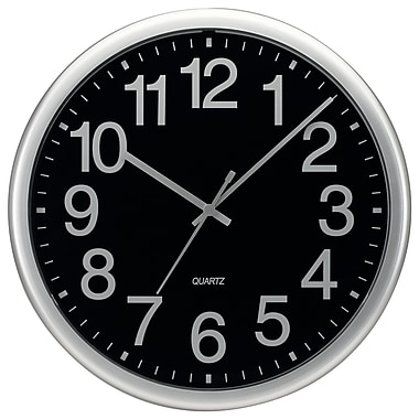 Symple Stuff 13.5'' Commercial Wall Clock; Silver