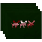 The Holiday Aisle Merry Moose Placemat (Set of 4); Green