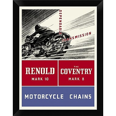 East Urban Home 'Reynold Mark 10 Motorcycle Chains' Framed Graphic Art Print; 12'' H x 9'' W