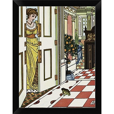 East Urban Home 'Frog Prince - Greeting the Frog' Framed Graphic Art Print; 12'' H x 9'' W