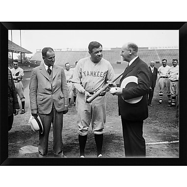 East Urban Home 'Babe Ruth 1928' Framed Photographic Print; 12'' H x 16'' W