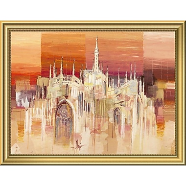 East Urban Home 'Milano al tramonto' Framed Oil Painting Print; 14'' H x 18'' W