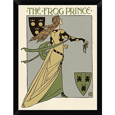 East Urban Home 'Frog Prince Title Page' Framed Graphic Art Print; 16'' H x 12'' W