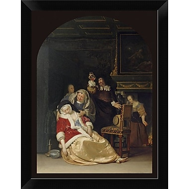 East Urban Home 'The Doctor's Visit' Framed Oil Painting Print; 12'' H x 9'' W