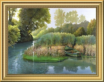 East Urban Home 'Sul fiume' Framed Graphic Art Print; 11'' H x 14'' W