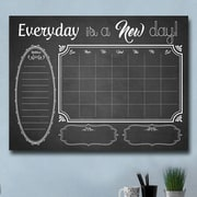 Latitude Run Black/White Dry Erase Monthly Calendar Memo Board; 30'' H x 40'' W x 1.5'' D