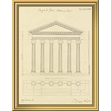 East Urban Home 'Plate 38 for Elements of Civil Architecture ca. 1818-1850' Framed Graphic Art Print