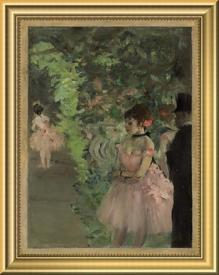 East Urban Home 'Dancers Backstage 1876/1883' Framed Oil Painting Print; 14'' H x 11'' W
