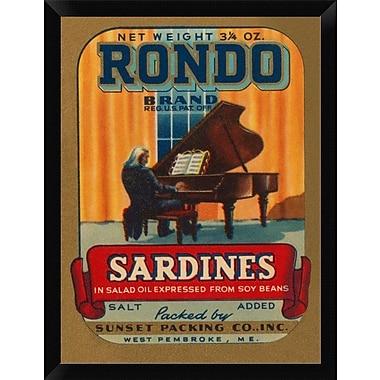 East Urban Home 'Rondo Brand Sardines' Framed Graphic Art Print; 16'' H x 12'' W