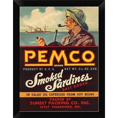 East Urban Home 'Remco Smoked Sardines' Framed Graphic Art Print; 12'' H x 9'' W