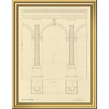 East Urban Home 'Plate 28 for Elements of Civil Architecture ca. 1818-1850' Framed Graphic Art Print