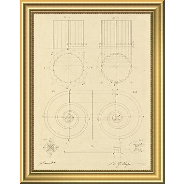 East Urban Home 'Plate 6 for Elements of Civil Architecture ca. 1818-1850' Framed Graphic Art Print