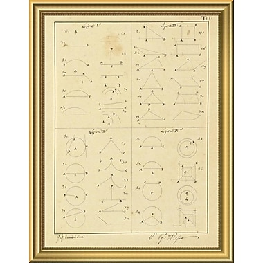 East Urban Home 'Plate 1 for Elements of Civil Architecture ca. 1818-1850' Framed Graphic Art Print
