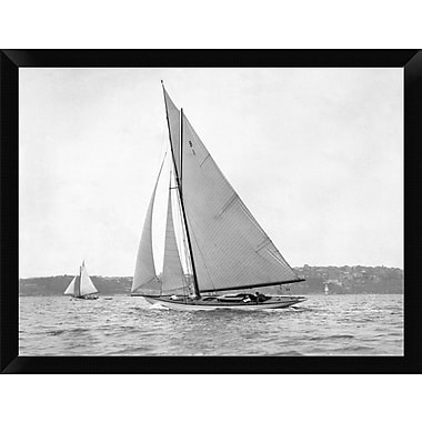 East Urban Home 'Victorian Sloop on Sydney Harbour 1930' Framed Photographic Print; 12'' H x 16'' W