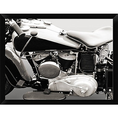East Urban Home 'Vintage American V-Twin Engine ' Framed Photographic Print; 12'' H x 16'' W