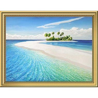East Urban Home 'Isola Tropicale' Framed Graphic Art Print; 14'' H x 18'' W