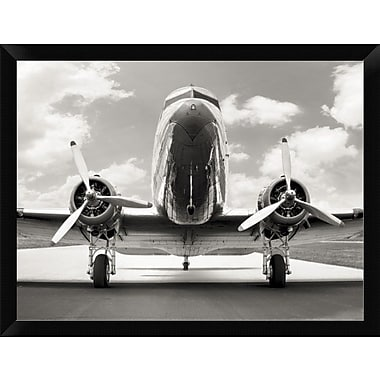 East Urban Home 'Vintage DC-3' Framed Photographic Print; 12'' H x 16'' W