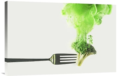 Global Gallery 'Disintegrated Broccoli' by Dina Belenko Graphic Art on Wrapped Canvas