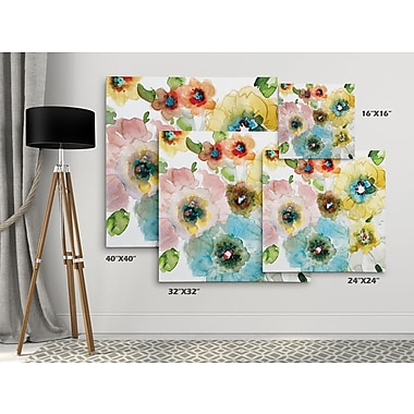 Winston Porter 'Blooming of Spring I' Oil Painting Print on Wrapped Canvas; 16'' H x 16'' W