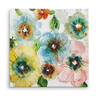 Winston Porter 'Blooming of Spring II' Oil Painting Print on Wrapped Canvas; 24'' H x 24'' W