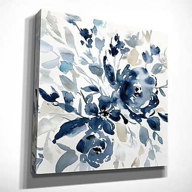 Winston Porter 'Indigo Garden I' Oil Painting Print on Wrapped Canvas; 40'' H x 40'' W