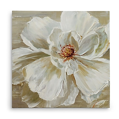 Charlton Home 'Bloomin' Beauty I' Oil Painting Print on Wrapped Canvas; 32'' H x 32'' W