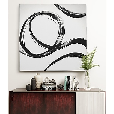 Orren Ellis 'Gestural Marks IV' Oil Painting Print on Wrapped Canvas; 40'' H x 40'' W