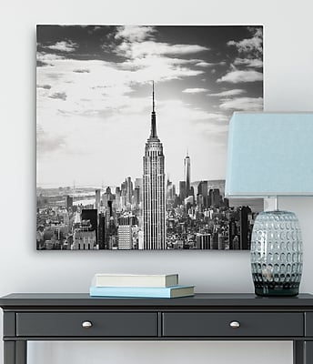 Ebern Designs 'Vintage New York' Graphic Art Print on Wrapped Canvas; 40'' H x 40'' W