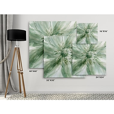 Winston Porter 'Macro Sage Flower I' Oil Painting Print on Wrapped Canvas; 24'' H x 24'' W