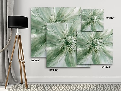 Winston Porter 'Macro Sage Flower I' Oil Painting Print on Wrapped Canvas; 40'' H x 40'' W
