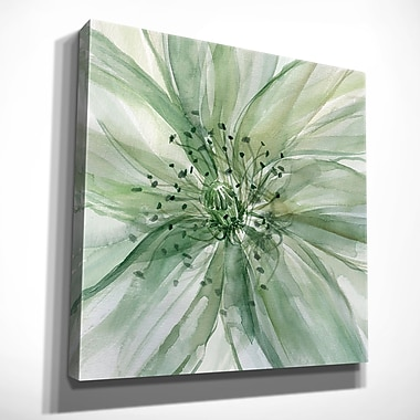 Winston Porter 'Macro Sage Flower II' Oil Painting Print on Wrapped Canvas; 40'' H x 40'' W