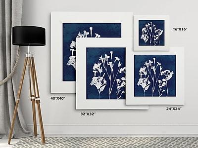 Breakwater Bay 'Cyanotype Botanical II' Graphic Art Print on Wrapped Canvas; 32'' H x 32'' W