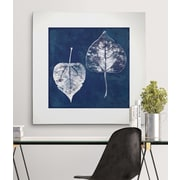 Breakwater Bay 'Cyanotype Aspen Leaves' Graphic Art Print on Wrapped Canvas; 16'' H x 16'' W