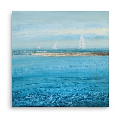 Highland Dunes 'Waiting on the Wind I' Oil Painting Print on Wrapped Canvas; 16'' H x 16'' W