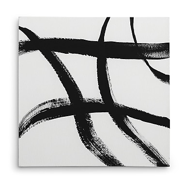 Orren Ellis 'Gestural Marks II' Oil Painting Print on Wrapped Canvas; 32'' H x 32'' W