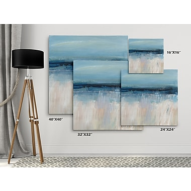 Highland Dunes 'On the Severn I' Oil Painting Print on Wrapped Canvas; 16'' H x 16'' W
