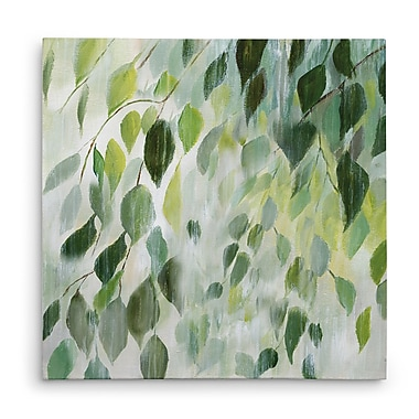 Bay Isle Home 'Misty Leaves' Oil Painting Print on Wrapped Canvas; 32'' H x 32'' W