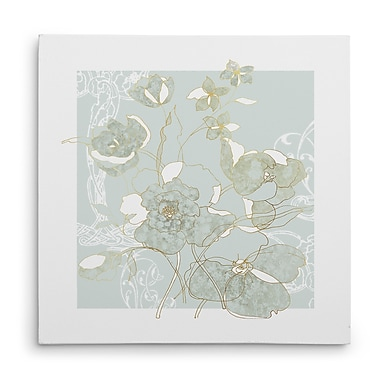 Winston Porter 'Filigree Floral II' Oil Painting Print on Wrapped Canvas; 40'' H x 40'' W