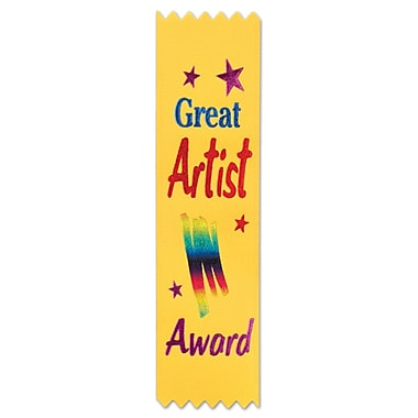The Beistle Company Great Artist Award Value Pack Ribbon (Set of 10)