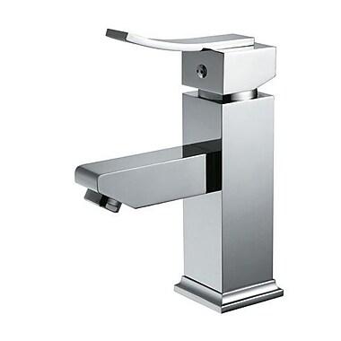 Eviva Bevera Single Handle Deck Mount Lever Handle Bathroom Faucet; Brushed Nickel