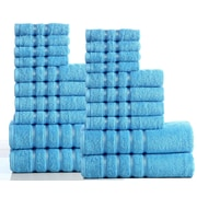 Darby Home Co 100pct Combed Cotton 550 GSM 20 Piece Towel Set; Sea Blue