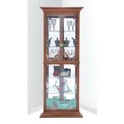 Darby Home Co Gladstone Corner Curio Cabinet; Oak