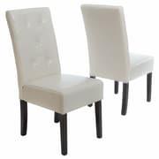 Latitude Run Corinne Upholstered Dining Chair (Set of 2); Ivory
